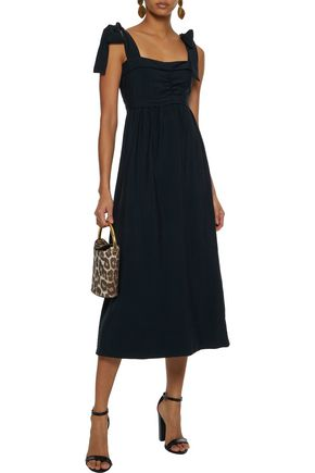 SEE BY CHLOÉ Bow-detailed ruched cotton midi dress