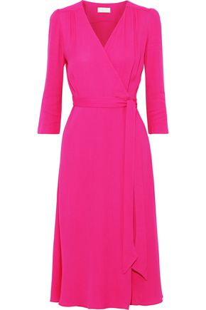 GOAT Glenda cady midi wrap dress