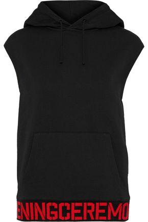 OPENING CEREMONY Intarsia-trimmed cotton-fleece hoodie