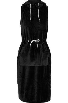 OPENING CEREMONY Intarsia-trimmed velvet hooded dress