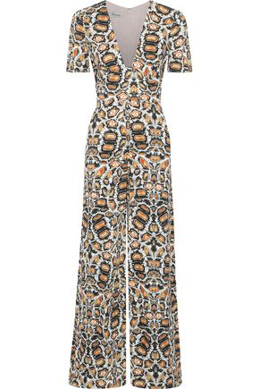 TEMPERLEY LONDON Spiral printed crepe jumpsuit