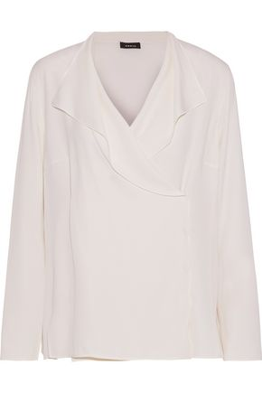 AKRIS Silk wrap top