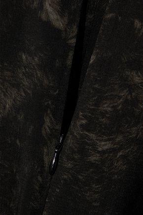 AKRIS Printed wool top
