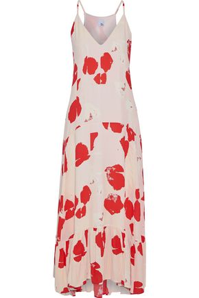 IRIS & INK Isla printed crepe de chine maxi dress