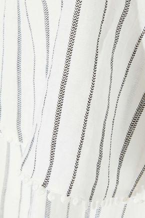IRIS & INK Liliana striped jacquard maxi dress