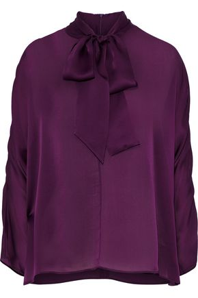 AKRIS Pussy-bow silk-chiffon blouse