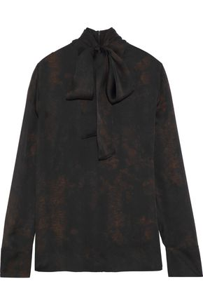 AKRIS Printed silk-chiffon blouse