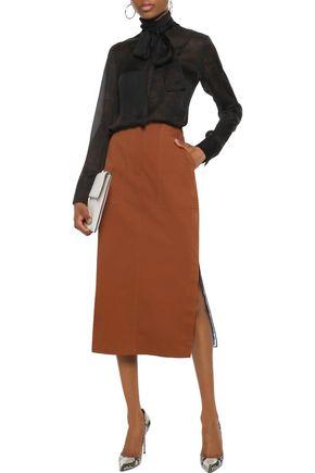 AKRIS Printed silk-chiffon blouse