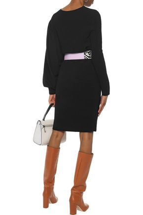 AKRIS Ribbed cashmere-blend dress