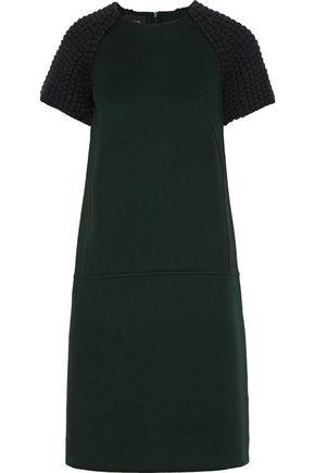 AKRIS Crochet-paneled felt-cashmere dress