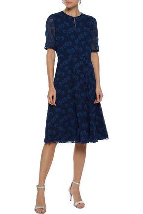 IRIS & INK Cordelia fil coupé silk and cotton-blend georgette dress