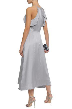 ZIMMERMANN Ruffled silk-satin midi dress