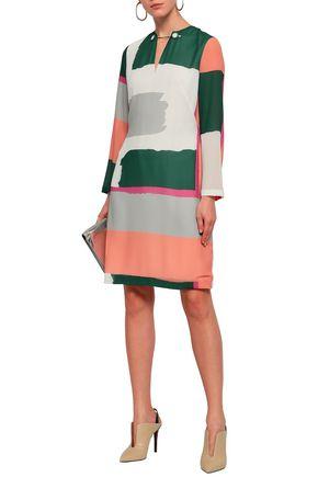 RAOUL Printed crepe dress