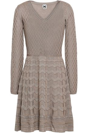 M MISSONI Jacquard-knit wool-blend mini dress