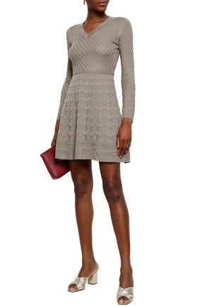 M MISSONI Jacquard-knit wool-blend mini dress