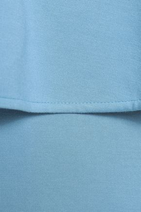 RAOUL Stretch-ponte peplum dress