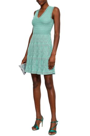 1df9784264 M MISSONI Pointelle-trimmed crochet-knit wool-blend mini dress