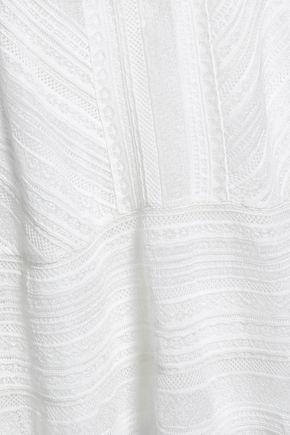 M MISSONI Striped crochet-knit mini dress