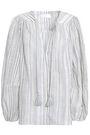 ZIMMERMANN Tasseled cotton and linen-blend jacquard blouse