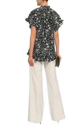 ZIMMERMANN Ruffle-trimmed silk crepe de chine blouse