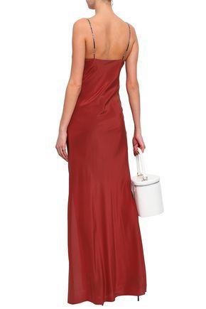 ISOLDA Silk maxi slip dress