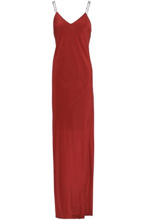 ISOLDA Silk maxi slip dress