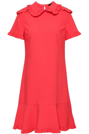 RAOUL Ruffled crepe mini dress