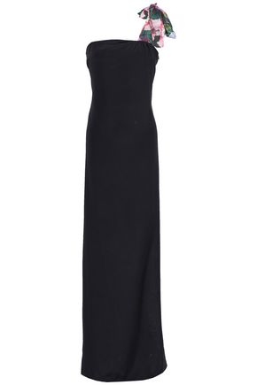 ISOLDA One-shoulder silk maxi dress