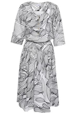ISOLDA Printed linen-gauze dress