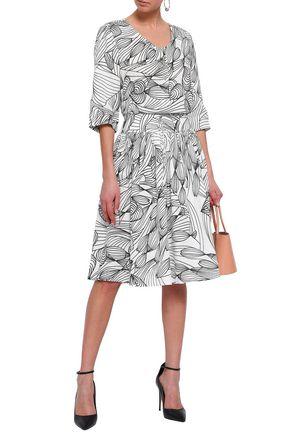 ISOLDA Printed linen-gauze dress