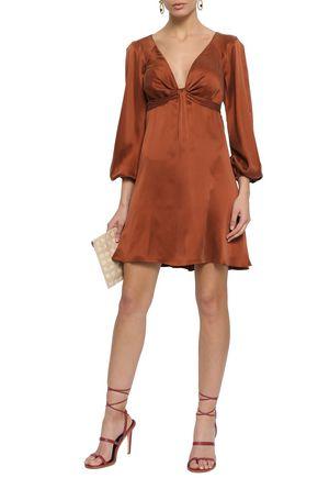 ZIMMERMANN Knotted washed-silk mini dress