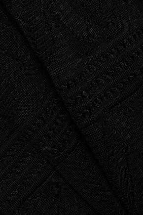M MISSONI Flared jacquard-knit wool-blend mini dress