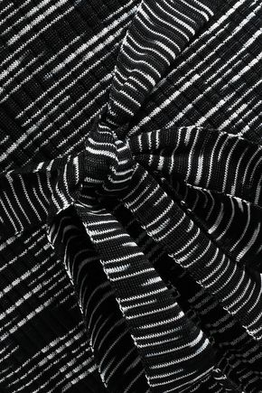 M MISSONI Tie-front crochet-knit wool-blend turtleneck top