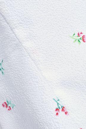 EMILIA WICKSTEAD Rita cutout floral-print cloqué top