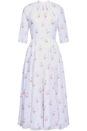 EMILIA WICKSTEAD Floral-print cotton midi dress
