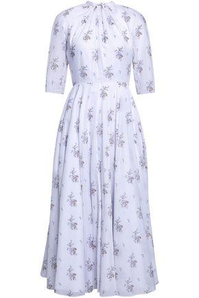 EMILIA WICKSTEAD Floral-print cotton midi dress