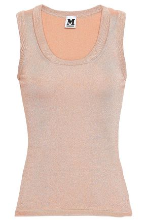 M MISSONI Metallic stretch-knit tank