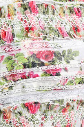 ZIMMERMANN Smocked floral-print linen and silk-blend top