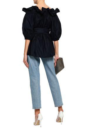 STELLA McCARTNEY Off-the-shoulder cotton-poplin top