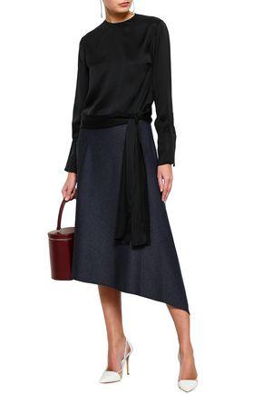 STELLA McCARTNEY Lace-up silk blouse