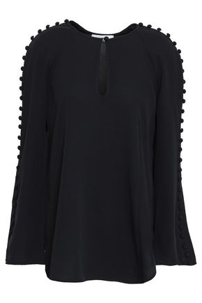 ZIMMERMANN Button-embellished crepe blouse