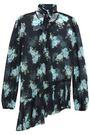 ZIMMERMANN Asymmetric floral-print fil coupé silk-blend blouse