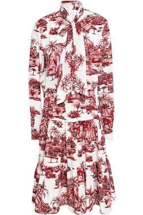 STELLA JEAN Printed crepe de chine dress