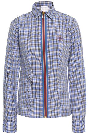 STELLA JEAN Checked cotton-jacquard shirt