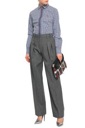 STELLA JEAN Checked cotton-jacquard shirt