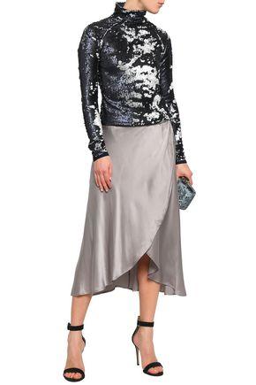 STELLA JEAN Sequined stretch-knit turtleneck top