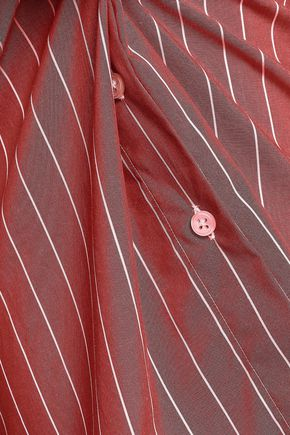 STELLA JEAN Striped cotton-poplin shirt