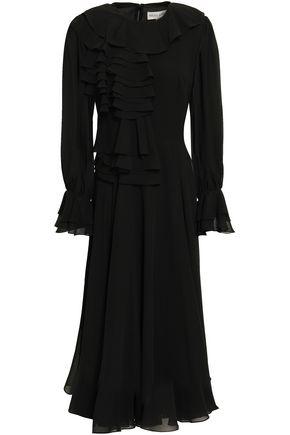 MIKAEL AGHAL Ruffled georgette midi dress