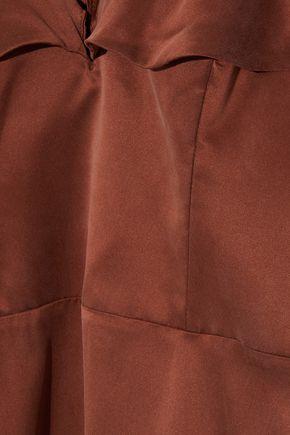 ZIMMERMANN Ruffled silk-satin mini dress