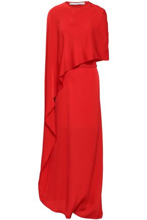 STELLA McCARTNEY Cape-effect crepe maxi dress